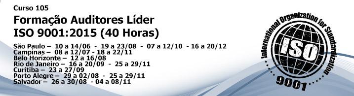 Formação de Auditor Líder ISO 9001:2015