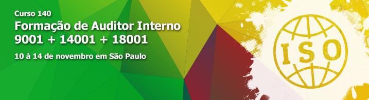 Formação de Auditor Interno 9001 + 14001 + 18001