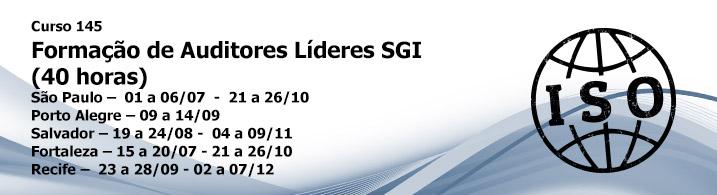 Formação de Auditor Líder SGI ISO 9001:2008 / ISO 14001:2008 / OHSAS 18001:2007