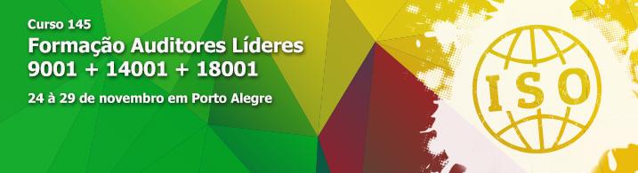 145- Formação Auditores Líderes  9001 + 14001 + 18001